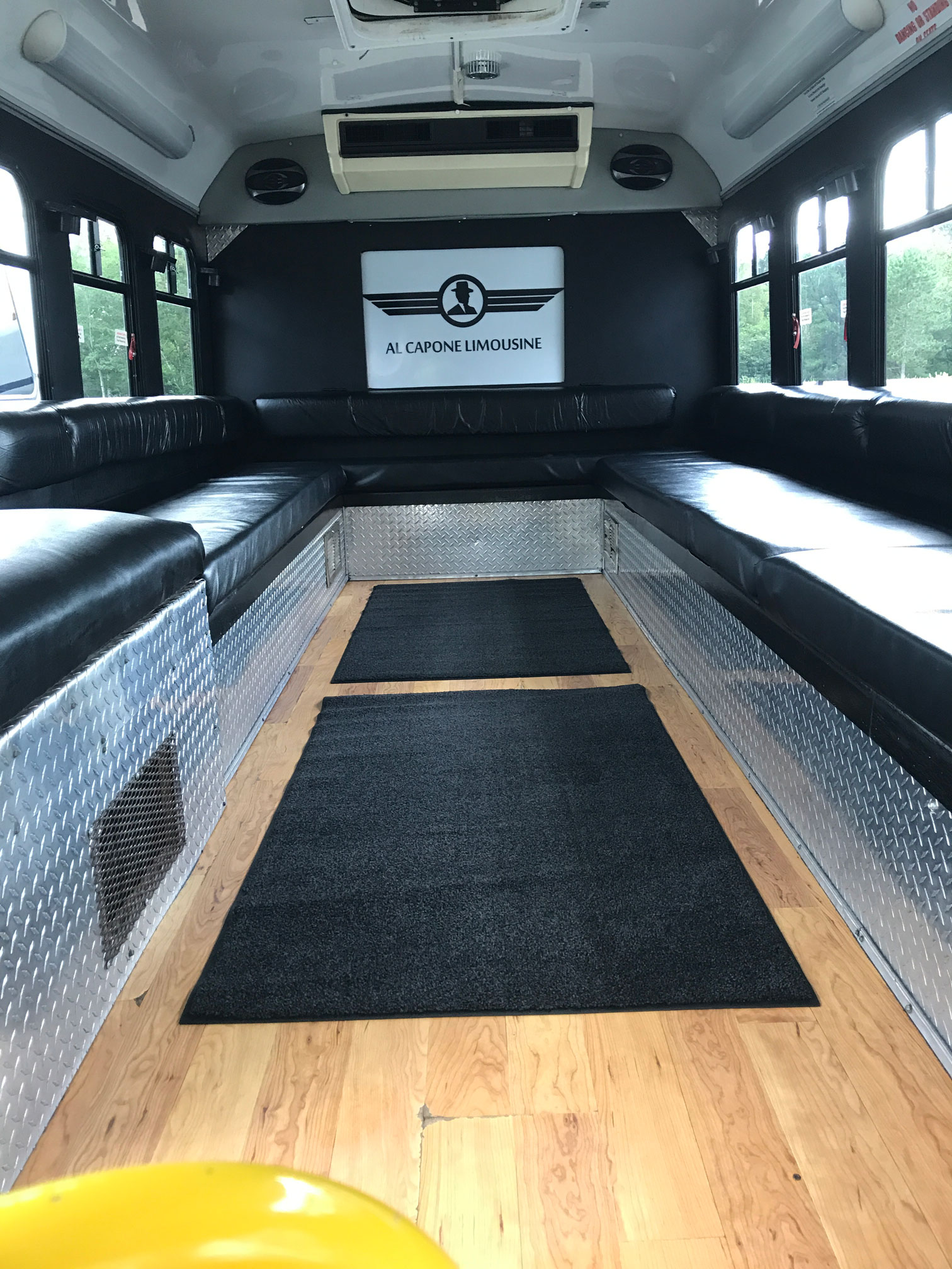 Al Capone Limos Party Bus with wood floors