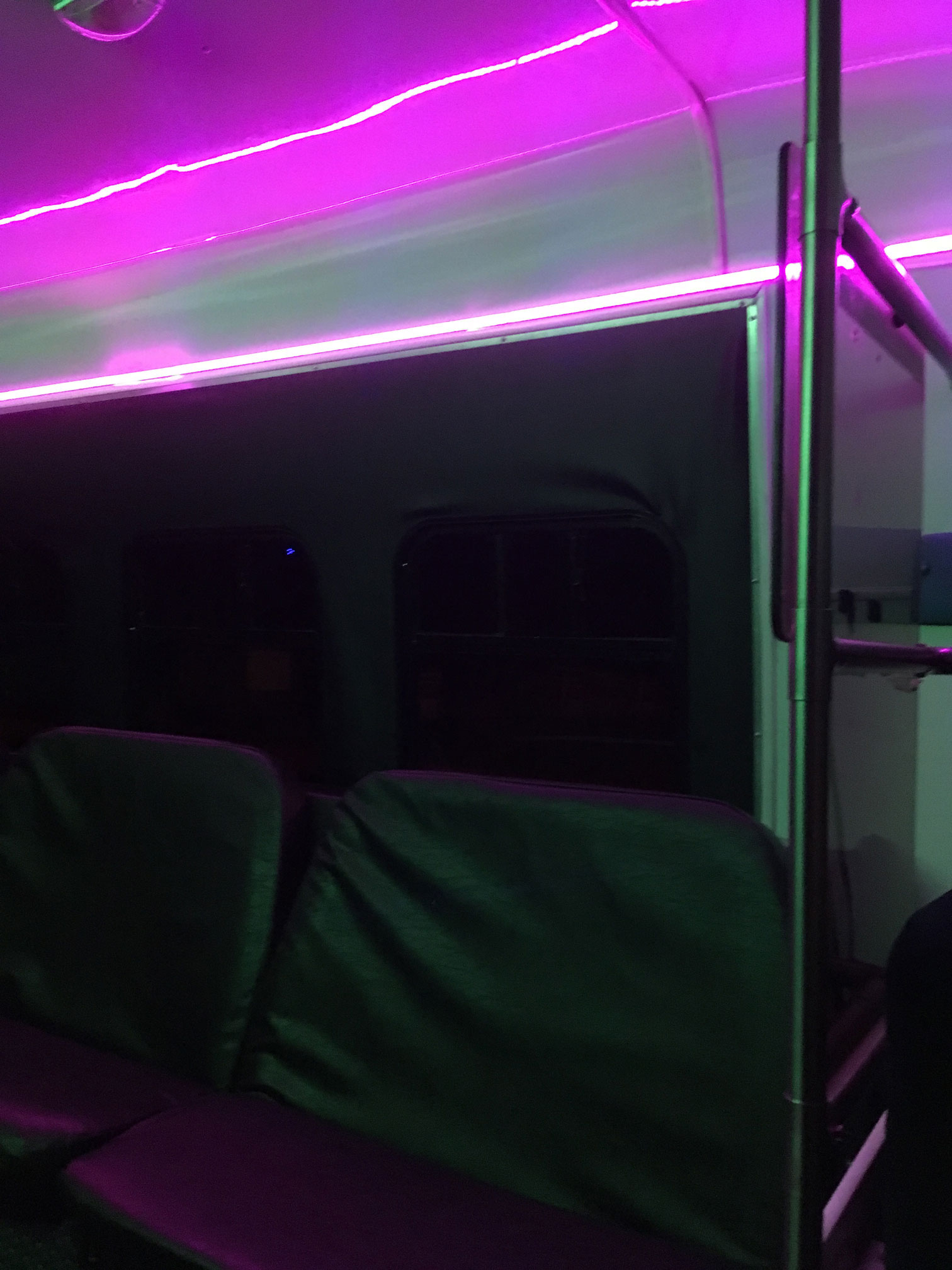 inside view of Al Capone Limousine Party Bus